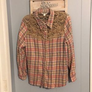 Tantrums Flannel and embroidery Shirt